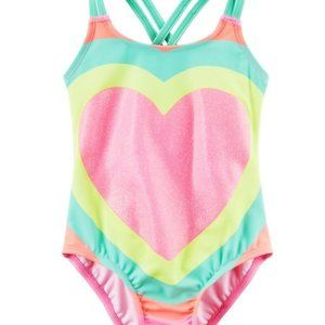 Carter's Big Ole Sparkly Heart One-Piece Swimsuit